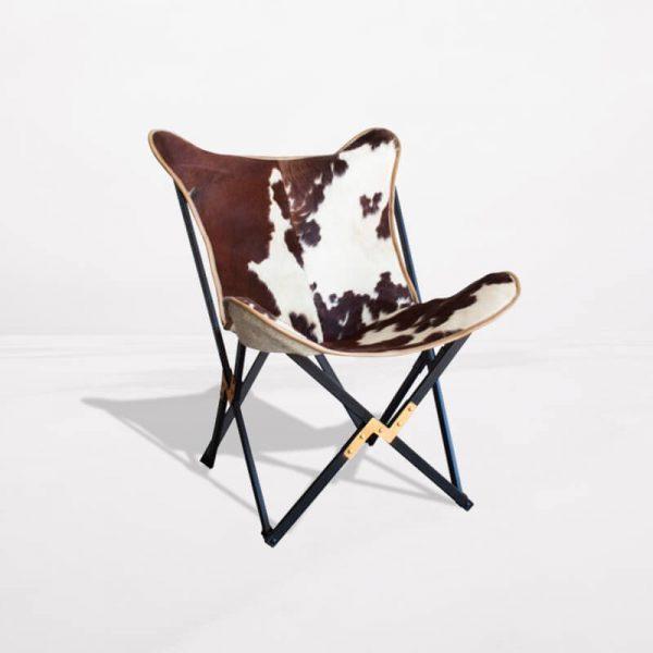 silla mariposa piel de cabra